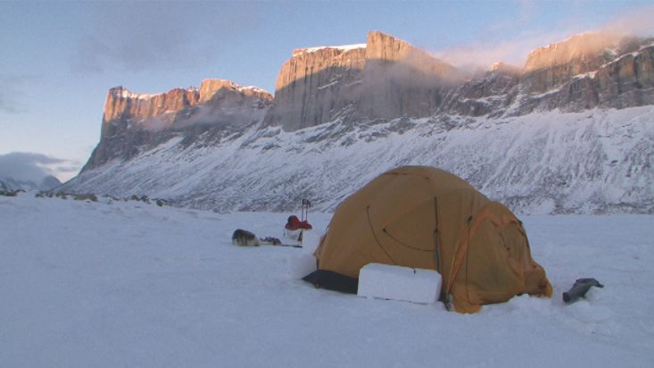 Camp under Stewart Valley - Sam Ford Fiord 2010 expedition