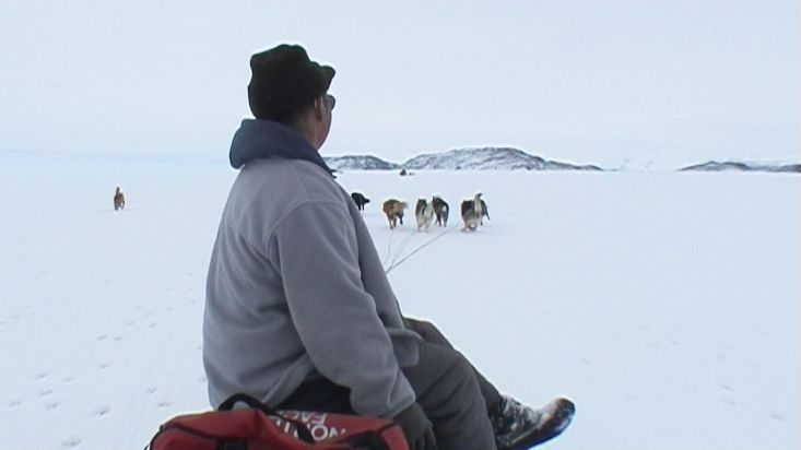 Dogsled route in the strait of Davis - Nanoq 2007 expedition