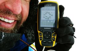 What does GPS display at the Geographic North Pole