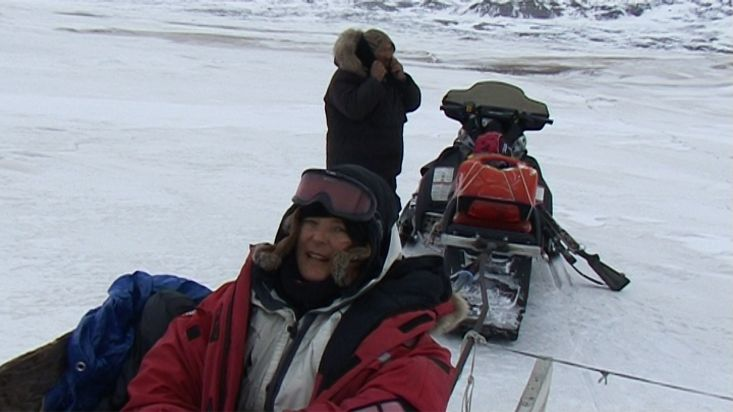 Ingrid explains the return to Clyde River - Sam Ford Fiord 2010 expedition