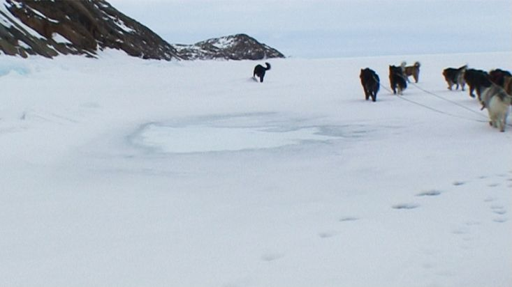 Dogsled route to the Maktak Fiord - Nanoq 2007 expedition