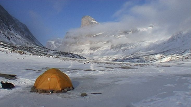 Camp in front of the Mount Thor - Nanoq 2007 expedition