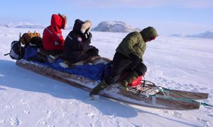 Dog sled expedition in the land of the last Inuit