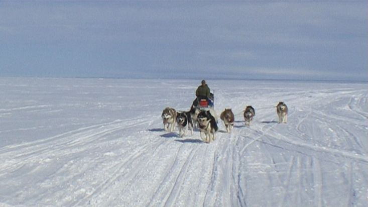 Dogsled route around the Broughton Island - Nanoq 2007 expedition