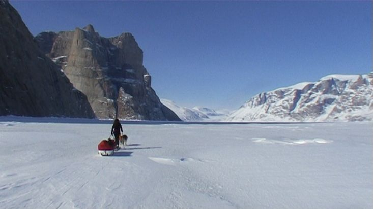 Skiing towards the Walker Citadel - Sam Ford Fiord 2010 expedition